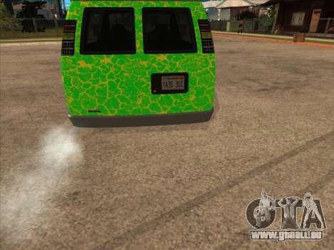 Bravado Paradise pour GTA San Andreas sur la vue arrière gauche