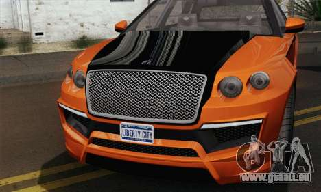 Huntley S (IVF) pour GTA San Andreas sur la vue arrière gauche