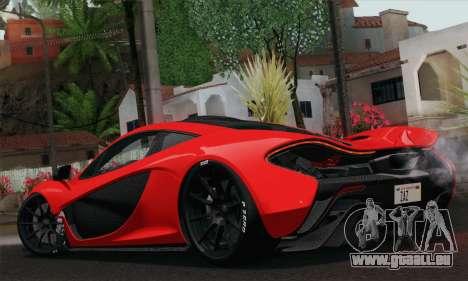 McLaren P1 HQ pour GTA San Andreas laissé vue
