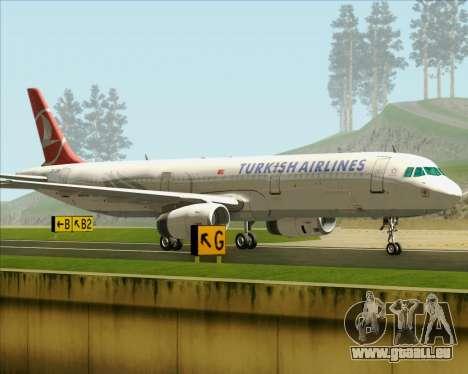 Airbus A321-200 Turkish Airlines pour GTA San Andreas vue intérieure