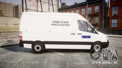 Mercedes-Benz Sprinter 311 cdi London Police für GTA 4 linke Ansicht
