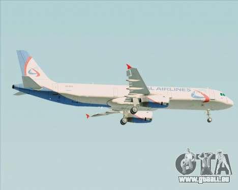 Airbus A321-200 Ural Airlines pour GTA San Andreas vue de droite
