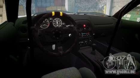 Mazda MX-5 Miata NA [Updated] pour GTA 4 Vue arrière