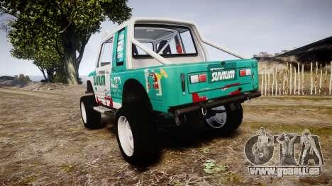 Suzuki Samurai pour GTA 4 Vue arrière de la gauche