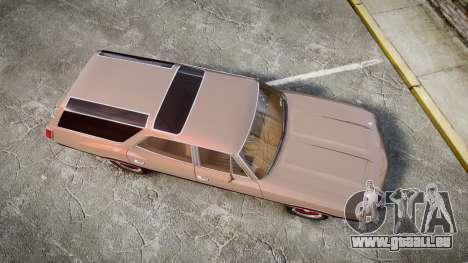 Oldsmobile Vista Cruiser 1972 Rims1 Tree4 pour GTA 4 est un droit