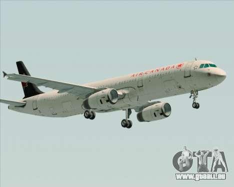 Airbus A321-200 Air Canada pour GTA San Andreas vue intérieure