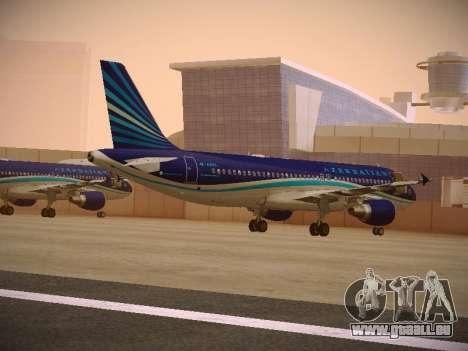 Airbus A320-214 Azerbaijan Airlines AZAL für GTA San Andreas zurück linke Ansicht