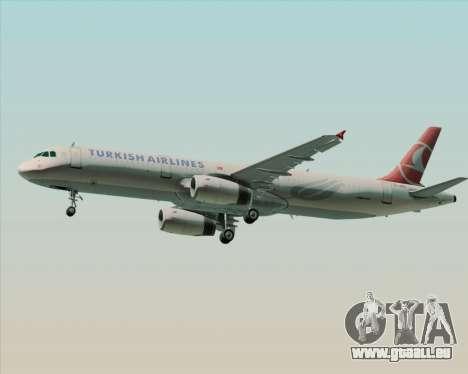 Airbus A321-200 Turkish Airlines für GTA San Andreas rechten Ansicht