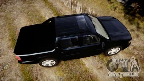 Chevrolet Avalanche 2008 Undercover [ELS] pour GTA 4 est un droit
