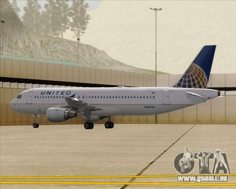 Airbus A320-232 United Airlines für GTA San Andreas
