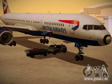 Boeing 757-236 British Airways für GTA San Andreas obere Ansicht