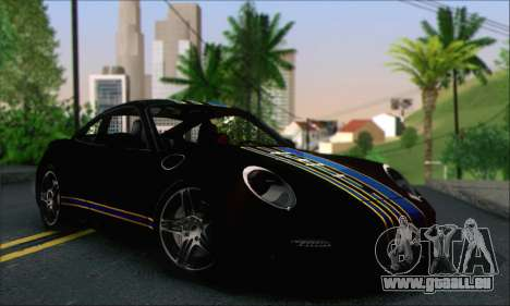 Porsche 997 Turbo Tunable pour GTA San Andreas vue de dessus