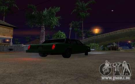 Tahoma Restyle pour GTA San Andreas vue arrière