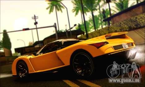 Grotti Cheetah (HQLM) pour GTA San Andreas laissé vue