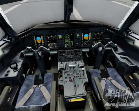 Embraer E-190 Virgin Blue pour GTA San Andreas salon