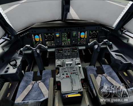 Embraer E-190 Virgin Blue für GTA San Andreas Innen