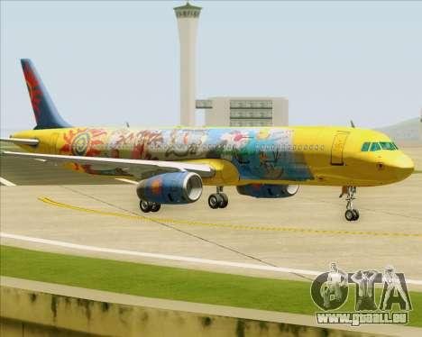 Airbus A321-200 pour GTA San Andreas vue arrière
