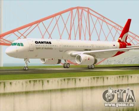 Airbus A321-200 Qantas für GTA San Andreas linke Ansicht