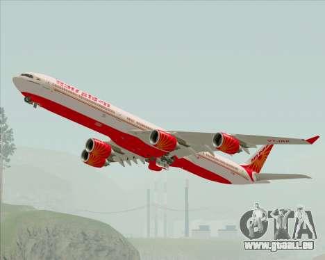 Airbus A340-600 Air India für GTA San Andreas Seitenansicht