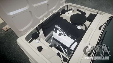 VAZ-2105 hooligan style pour GTA 4 est une vue de l'intérieur
