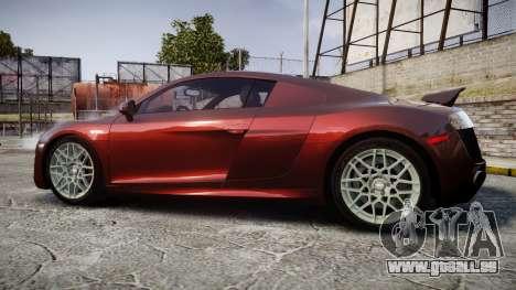 Audi R8 2010 Rotiform BLQ pour GTA 4 est une gauche