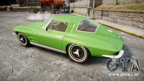 Chevrolet Corvette Stingray 1963 pour GTA 4 est une gauche