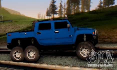 Hummer H6 Sut Pickup für GTA San Andreas zurück linke Ansicht