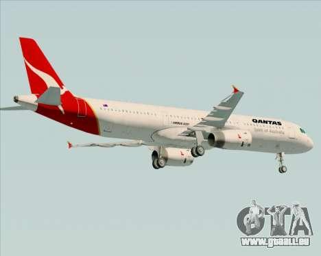 Airbus A321-200 Qantas für GTA San Andreas Rückansicht