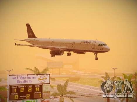 Airbus A321-232 jetBlue Woo-Hoo jetBlue für GTA San Andreas Seitenansicht