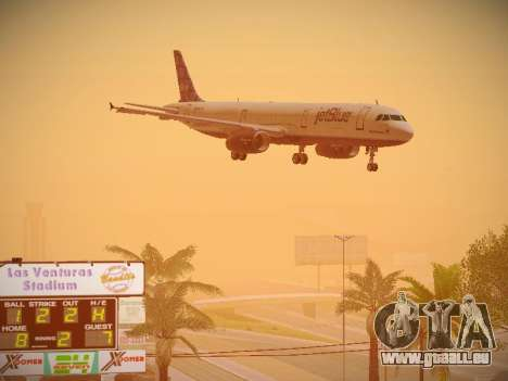 Airbus A321-232 jetBlue Blue Kid in the Town pour GTA San Andreas vue intérieure