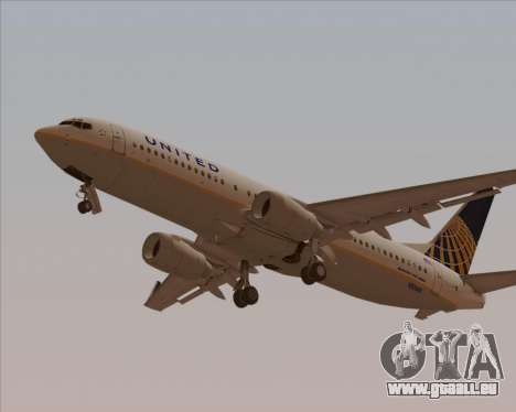 Boeing 737-824 United Airlines pour GTA San Andreas moteur