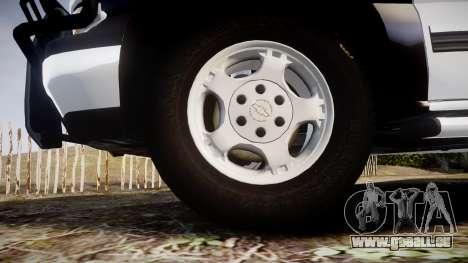 Chevrolet Silverado SWAT [ELS] pour GTA 4 Vue arrière
