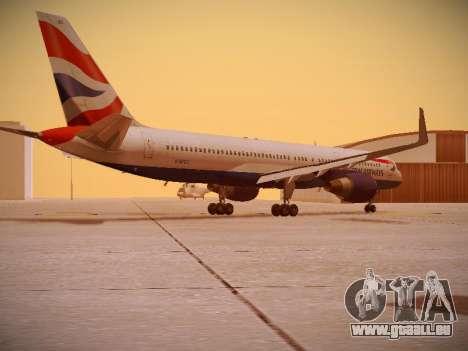 Boeing 757-236 British Airways für GTA San Andreas rechten Ansicht