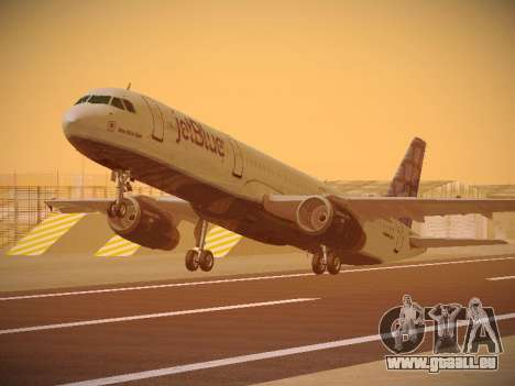 Airbus A321-232 jetBlue Blue Kid in the Town pour GTA San Andreas