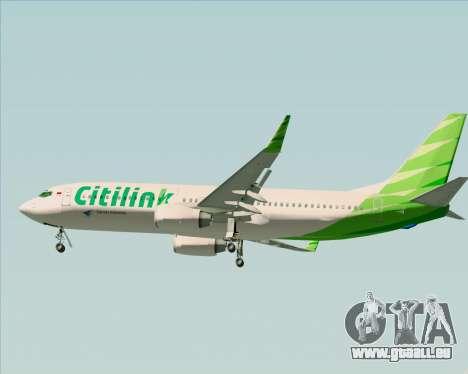 Boeing 737-800 Citilink pour GTA San Andreas salon