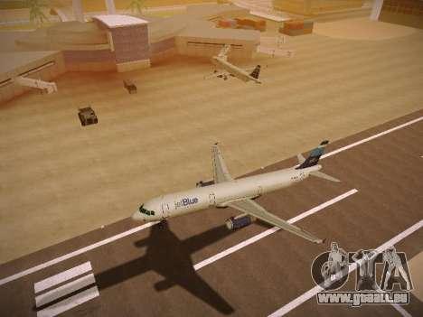 Airbus A321-232 Big Blue Bus für GTA San Andreas Rückansicht