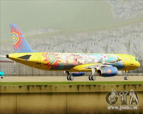 Airbus A321-200 für GTA San Andreas Seitenansicht