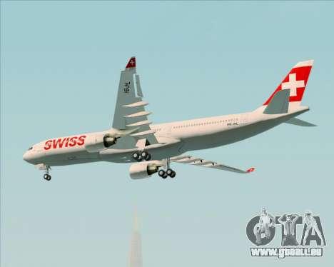 Airbus A330-300X Swiss International Air Lines pour GTA San Andreas vue intérieure