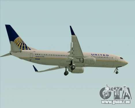 Boeing 737-824 United Airlines für GTA San Andreas rechten Ansicht