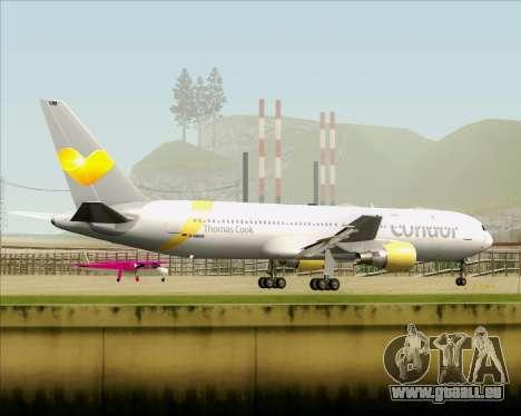 Boeing 767-330ER Condor für GTA San Andreas obere Ansicht