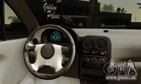 Daewoo Matiz Tuned pour GTA San Andreas sur la vue arrière gauche