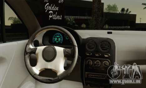 Daewoo Matiz Tuned für GTA San Andreas zurück linke Ansicht