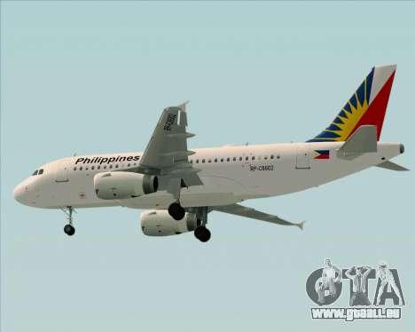 Airbus A319-112 Philippine Airlines für GTA San Andreas Rückansicht