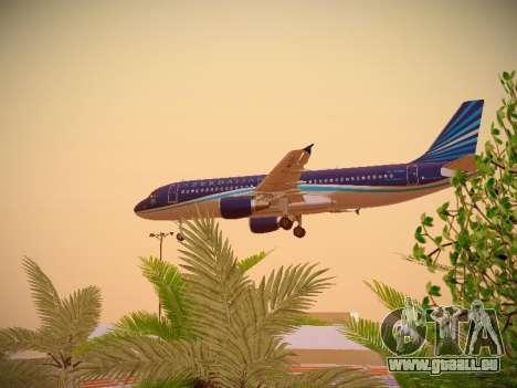 Airbus A320-214 Azerbaijan Airlines AZAL für GTA San Andreas Seitenansicht
