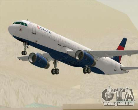 Airbus A321-200 Delta Air Lines für GTA San Andreas
