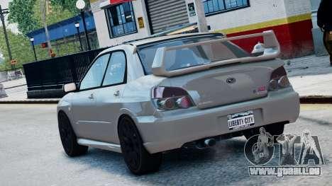 Subaru Impreza WRX STi pour GTA 4 est une gauche