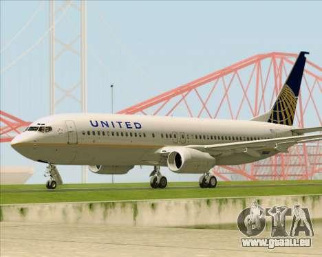 Boeing 737-824 United Airlines für GTA San Andreas Innenansicht