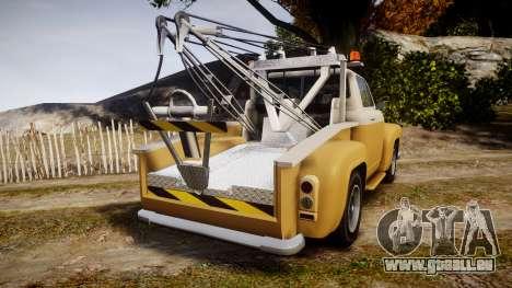 Vapid Tow Truck Jackrabbit v2 für GTA 4 hinten links Ansicht