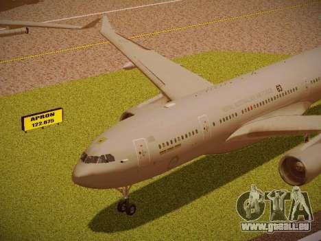 Airbus KC-45A (A330-203) Australian Air Force pour GTA San Andreas vue intérieure