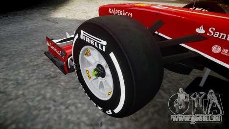 Ferrari F138 v2.0 [RIV] Alonso TMD pour GTA 4 Vue arrière